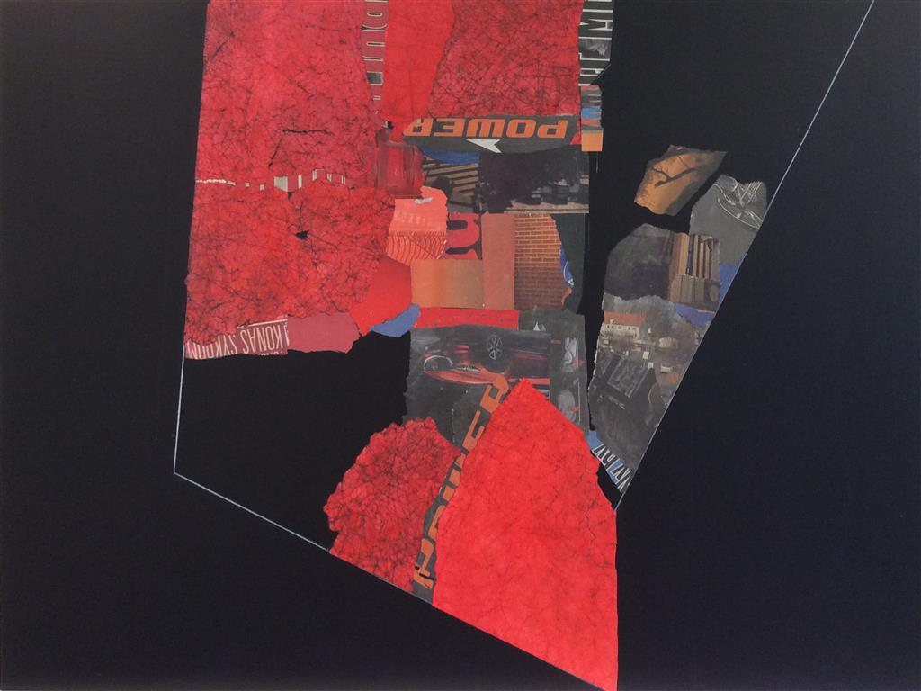Urban Rød I Collage (90 x120 cm) kr 38000 ur