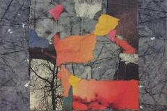 Rød komposisjon Collage (30x30 cm) kr 4000 ur