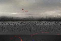 Red ribbons Digital trykk (30x30 cm) kr 3000 ur
