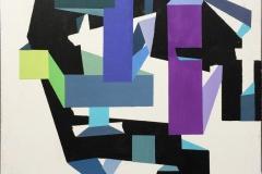 Figurer I Akrylmaleri (40x40 cm) kr 3800 ur