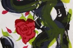 Det hev ei rose sprunge III Litografi 42x32,5 cm 2500 ur