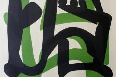 Rytme med groent Litografi 55x51 cm 3700 ur