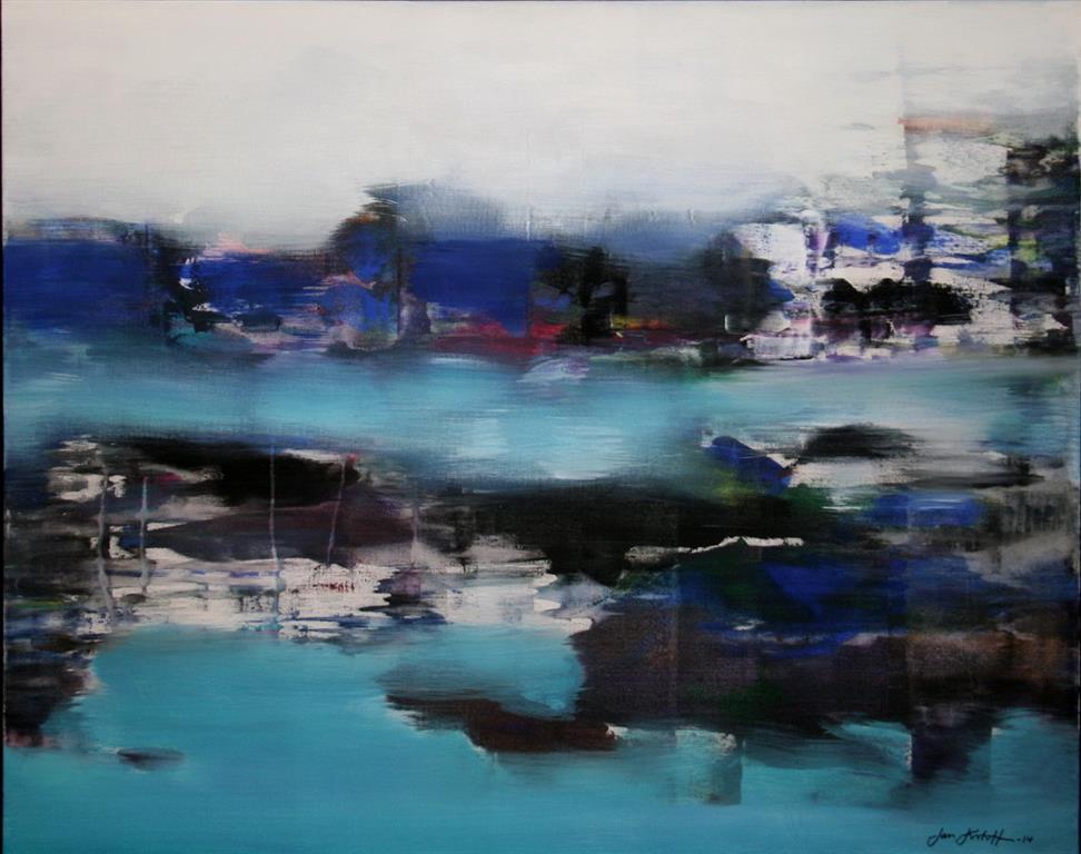 Vinter I Akrylmaleri 80x100 cm 12000 mr