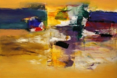 Komposisjon I Akrylmaleri 60x60 cm 6000 mr