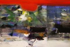 Komposisjon II Akrylmaleri 60x60 cm 6000 mr