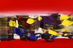 Roed opus Akrylmaleri 60x60 cm 6000 mr
