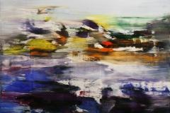 Sommerstrand Akrylmaleri 70x70 cm 8000 mr