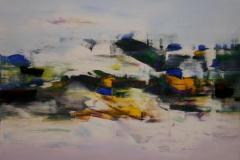 Ut mot havet I Akrylmaleri 70x70 cm 8000 mr