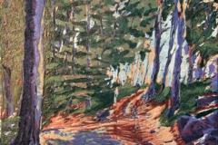 Fra boekeskogen Linosnitt 36,5x26,5 cm 1900,-kr u.r.