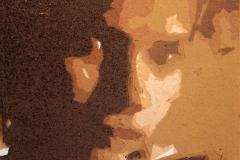 I skyggen Linosnitt 11,5x11,5 cm 500,-kr u.r.