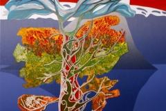 Det norrøne treet, natt Linosnitt (54x37 cm) kr 4000 ur