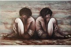 Brødre Litografi (27x42 cm) kr 2200 ur