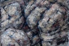 Fjellstudie I Blandet teknikk 48x62,5 cm 3000 ur