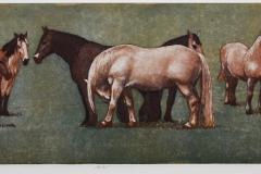 Hester Etsning 22,5x64,5 cm 2200 ur