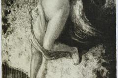 Kjaerlighetsnymfen Litografi 32x24cm 2500,-kr u.r.