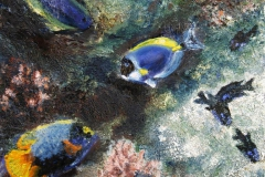 Korallrev I Oljemaleri 30x30 cm 3000 ur