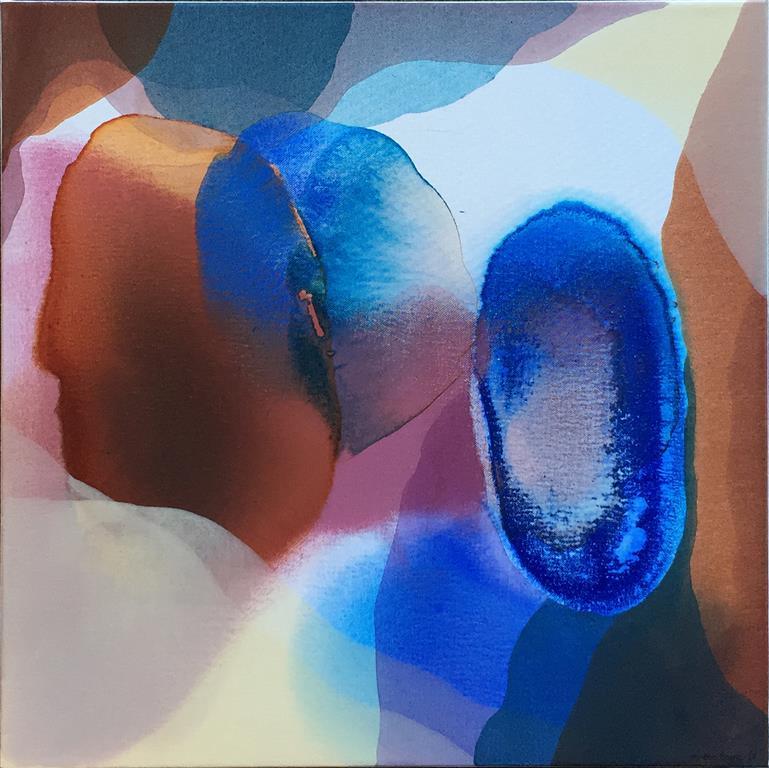 Annette Bryne Farger og fly II Akrylmaleri (50x50 cm) kr 5000 ur