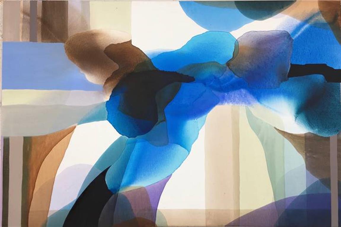Annette Bryne Farger og fly III Akrylmaleri (80x120 cm) kr 10000 ur