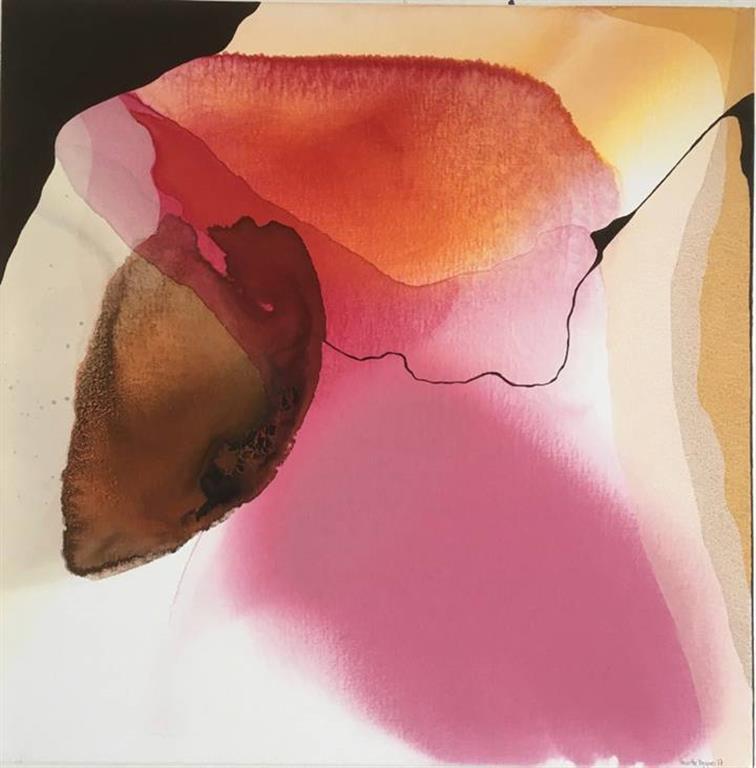 Annette Bryne Farger og fly IV Akrylmaleri (50x50 cm) kr 5000 ur