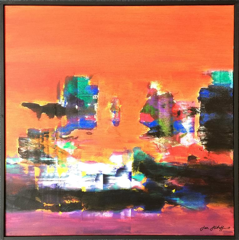 "Jan Kristoffersen ""Juleglede"" Akrylmaleri (60x60 cm) kr 6500 mr"