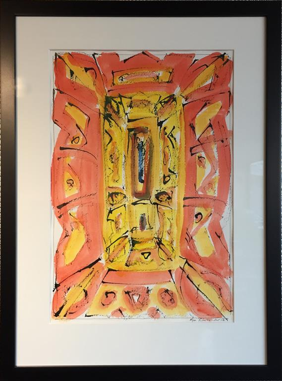 """Kjell Pahr-Iversen """"Ikon III"""" Akvarell (45x30 cm) kr 7500 mr"""