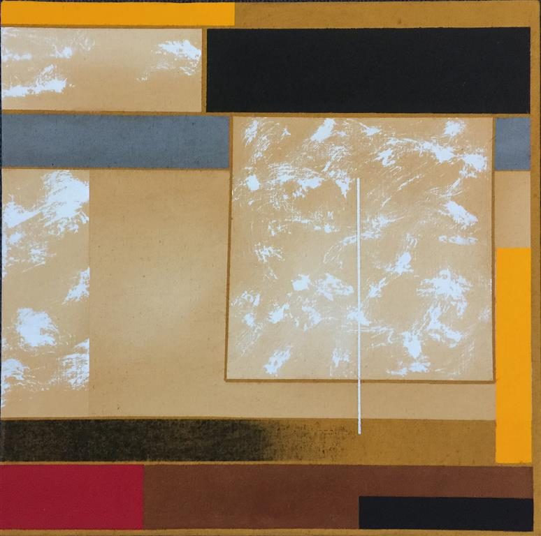 "Torunn Thrall ""Komposisjon 2"" Akrylmaleri (40x40 cm) kr 5300 ur"