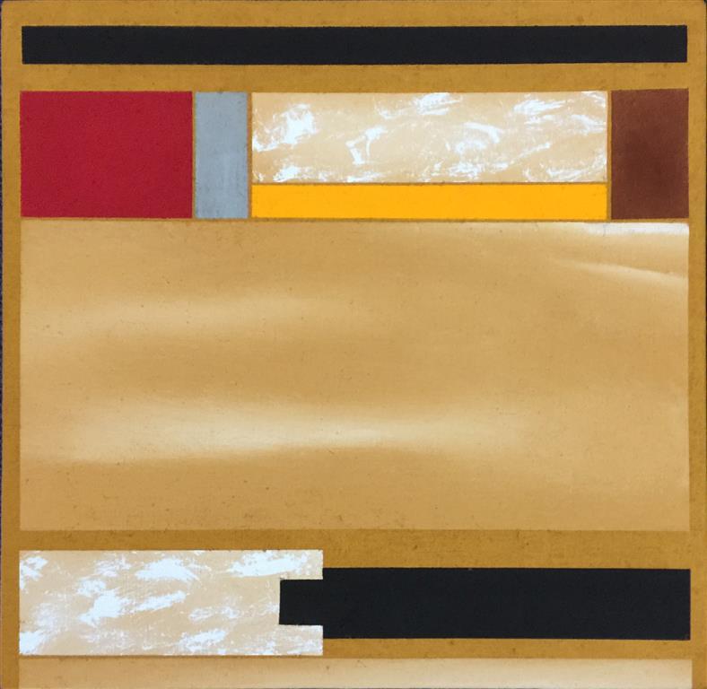 "Torunn Thrall ""Komposisjon 4"" Akrylmaleri (40x40 cm) kr 5300 ur"