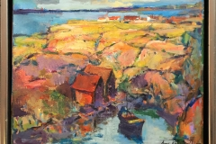 Arne Kleng Dahle Kyst Akrylmaleri (38x46 cm) kr 4500 mr