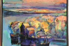 Arne Kleng Dahle Utpost Akrylmaleri (65x65 cm) kr 7000 mr