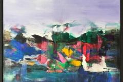 """Jan Kristoffersen """"Ut mot havet II"""" Akrylmaleri (40x40 cm) kr 4800 mr"""