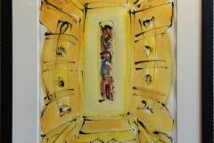 """Kjell Pahr-Iversen """"Ikon II"""" Akvarell (45x30 cm) kr 7500 mr"""