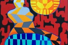 "Pia Myrvold ""Venus I"" Akrylmaleri (55x46 cm) kr 18000 ur"