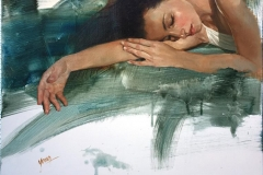 "Yang Zhu ""Malise"" Oljemaleri (50x50 cm) kr 15000 ur"