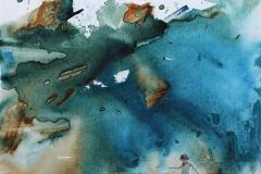 "Yang Zhu ""Sommerdag"" Akryl, olje på lerret (50x50 cm) kr 15000 ur"