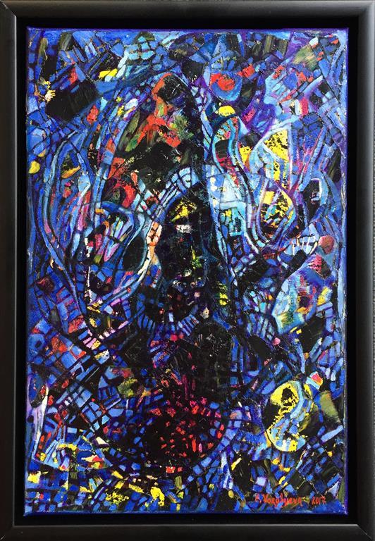 """Elena Vorobyeva """"Natt"""" Oljemaleri (33x22 cm) kr 4500 mr"""