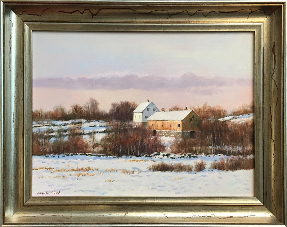 "Odd-Geir Hadland ""Gammel gård"" Oljemaleri (32x43 cm) kr 8000 mr"