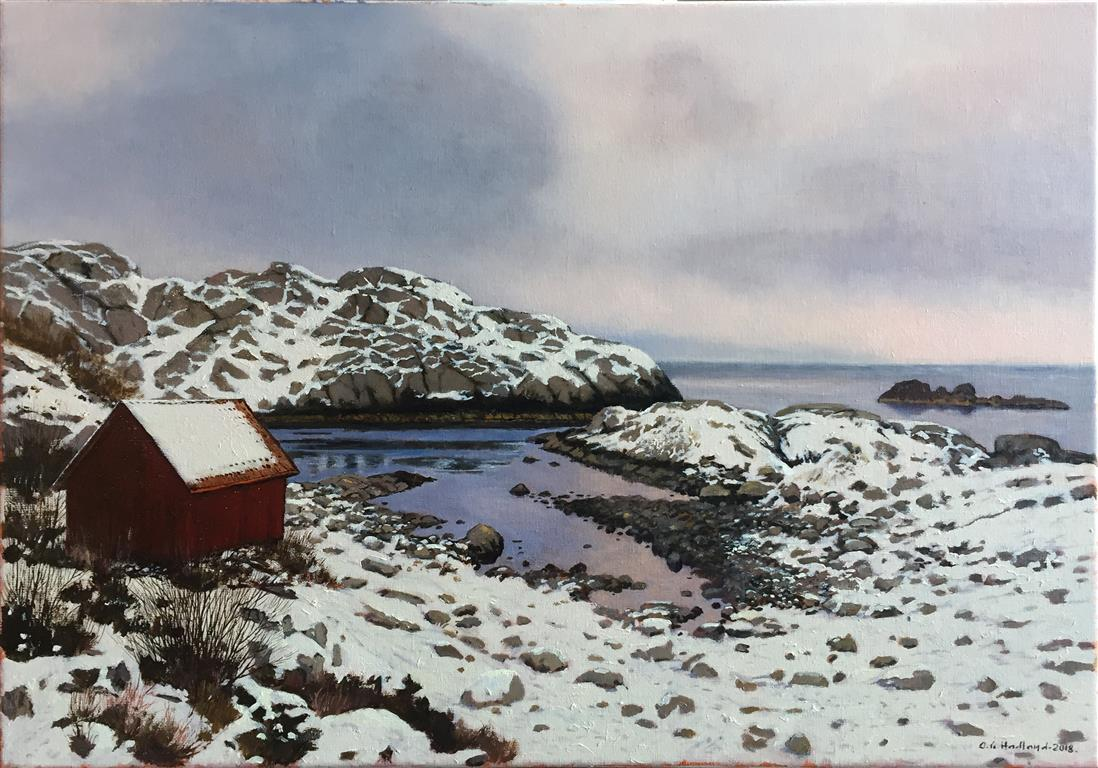 "Odd-Geir Hadland ""Moi-vika, Hellvik"" Oljemaleri (50x70 cm) kr 15000 ur"