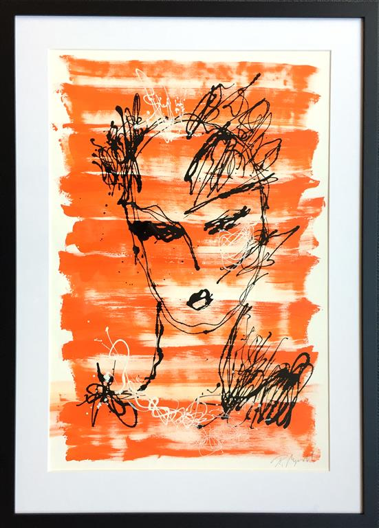 "Pia Myrvold ""Big Ghost"" Akryl på papir (71x48 cm) kr 10000 mr"