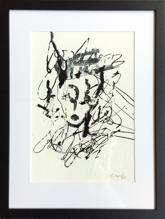 "Pia Myrvold ""Little Ghost"" Akryl på papir (40x28 cm) kr 6000 mr"