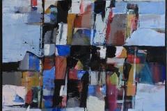 """Bjørn-Chr. Røed """"En kystreise"""" Akrylmaleri (60x60 cm) kr 6200 ur"""