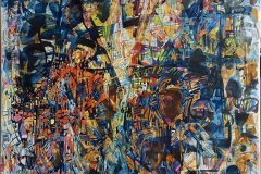 "Elena Vorobyeva ""Lysglimt"" Oljemaleri (100x100 cm) kr 35000 ur"