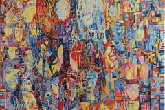 """Elena Vorobyeva """"Varm dag"""" Oljemaleri (100x100 cm) kr 35000 ur"""