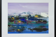 """Jan Kristoffersen """"Ut mot havet II"""" Akryl på papir (44x58 cm) kr 5800 mr"""