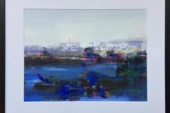 """Jan Kristoffersen """"Ved sjøen"""" Akryl på papir (43x58 cm) kr 5800 mr"""