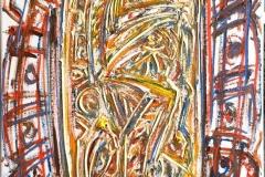 "Kjell Pahr-Iversen ""Ikon, ny III"" Oljemaleri (70x50 cm) kr 35000 ur"