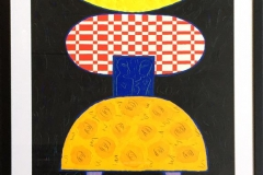 "Pia Myrvold ""Timeconstruction, black"" Akryl påpapir (86x58 cm) kr 9500 mr"