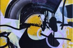 "Terry Nilssen-Love ""At play"" Akrylmaleri (40x40 cm) kr 4500 ur"