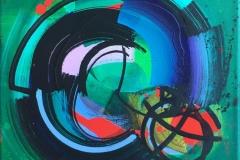"Terry Nilssen-Love ""Skippy"" Akrylmaleri (40x40 cm) kr 4500 ur"