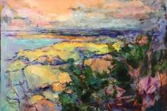 Arne Kleng Dahle Kyst Akrylmaleri (80x80 cm) kr 11000