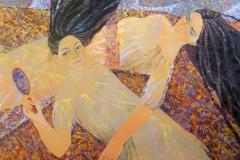 Blatt speil Oljemaleri (80x100 cm) kr 10000 ur